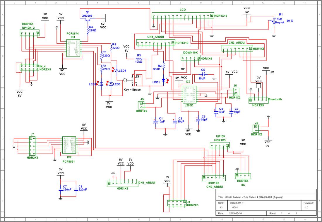 Project3 elektronica projecten elektronica icttuts ruben for Badkamer tekenen programma
